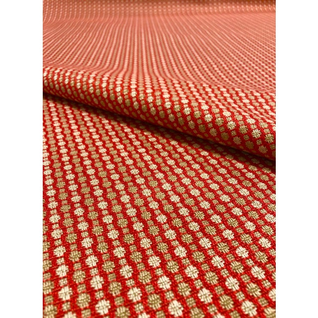 Modern Jane Churchill for Cowtan & Tout Castor - Transitional Red / Sand Upholstery Fabric - 10 Yards For Sale - Image 3 of 5