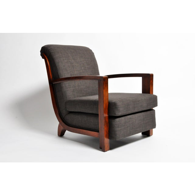 Art Deco Hungarian Art Deco Solid Walnut Chair For Sale - Image 3 of 12