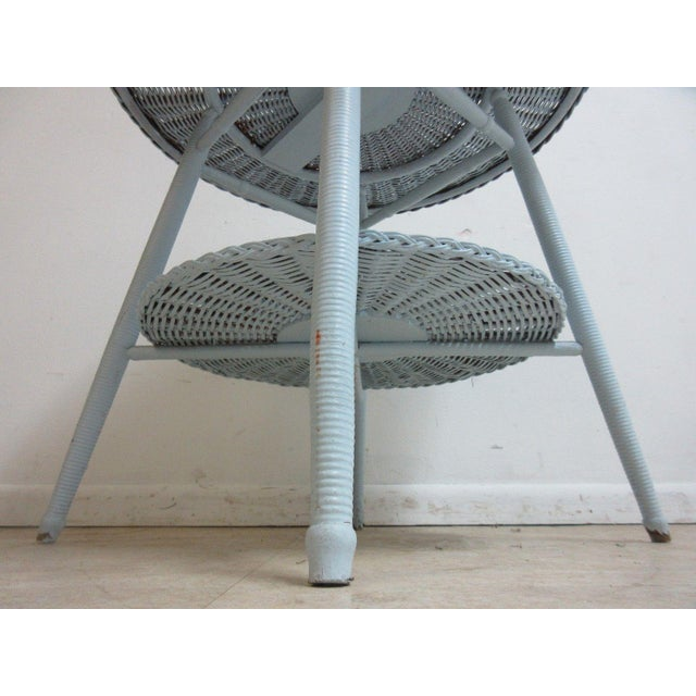 Antique Victorian Wicker Patio Dinette Table For Sale - Image 4 of 8