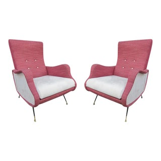 A Pair of Armchairs, Italy 1960 For Sale