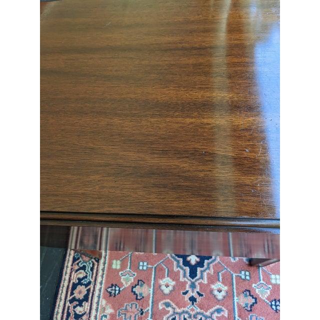 Vintage Henkel-Harris Drop Leaf Mahogany Side Table For Sale In Charleston - Image 6 of 12