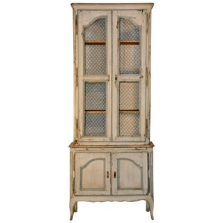 19th Century Country French Wire Front Cupboard For Sale