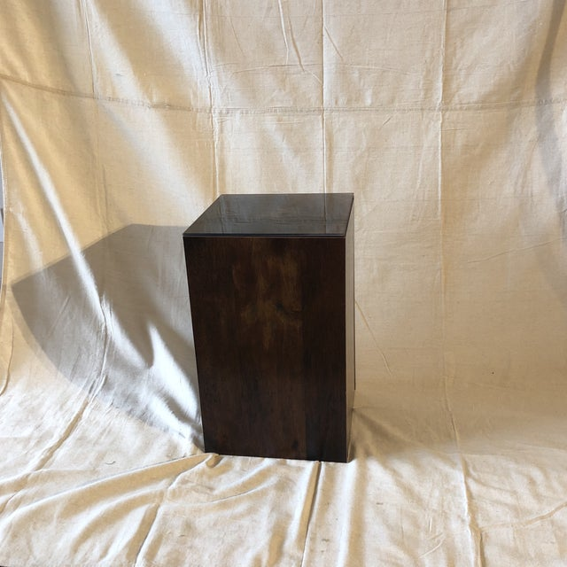 Faux Tree Stump Square Side Table For Sale - Image 4 of 6