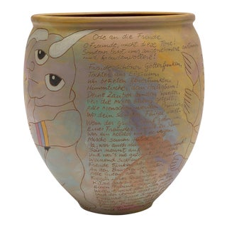 Visionary Pottery Ceramic Jar Vessel by Washington Ledesma