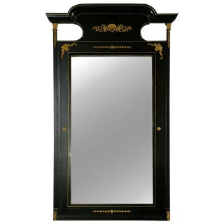 French Directoire Style Ebonized Mirror For Sale