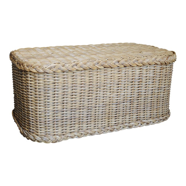 Vintage Rattan Coffee Table / Bench - Image 1 of 6