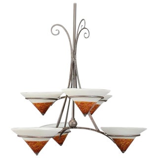 Modern Style Six-Light Chandelier For Sale
