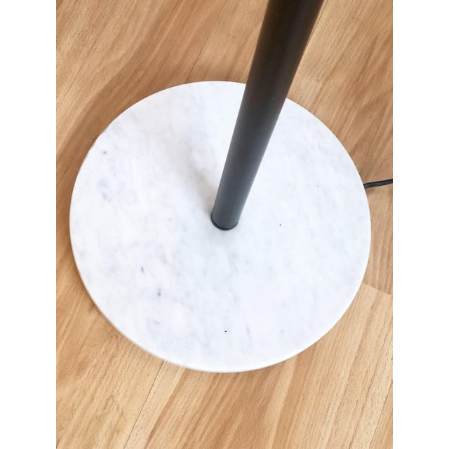 Sonneman Lighting 3 Arm Chrome Eyeball Floorlamp With Italian Marble Base For Sale - Image 4 of 7
