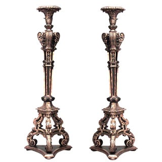 19th Century French Louis XVI Style Gilt Open Design Pedestals - a Pair For Sale