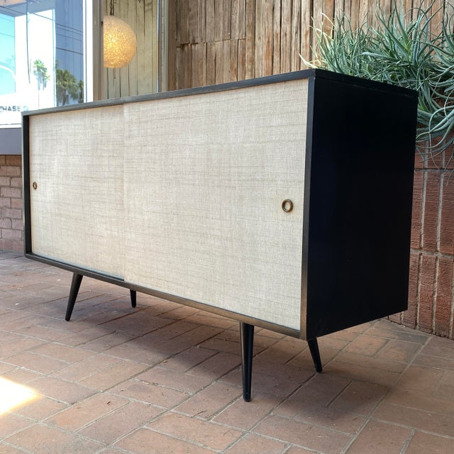 Mid-Century Modern Paul McCobb Planner Group Credenza With Original Ebonized Wood Finish, 1950s For Sale - Image 3 of 12