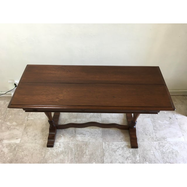 Early 21st Century English Traditional Walter Company Slide Table or Desk For Sale - Image 5 of 13