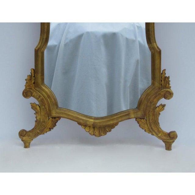 Gold Vintage C.1950's Hollywood Regency Era Italian Venetian Gilt Gold Leaf Carved Mirror For Sale - Image 8 of 13