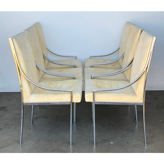 Set of 6 Chrome Dining Chairs Attributed to Milo Baughman For Sale - Image 9 of 9