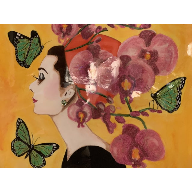 """Amazing Ashley Longshore """"Audry"""" painting. Mint condition. Owned about six years."""