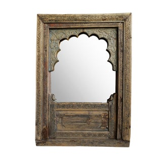 Antique Rajasthan Balcony Mirror For Sale