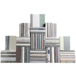 Modern Marble Book Wall : Set of Seventy Five Decorative Books For Sale