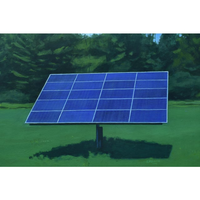 """Titled """"Solar Panel in a Field"""". Worked on and tweaked over the past few years. Finding it difficult to join the two and..."""
