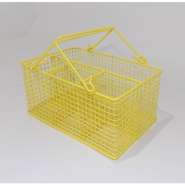 Electric Yellow Bathroom Toiletries Catchall Basket For Sale In Sacramento - Image 6 of 9