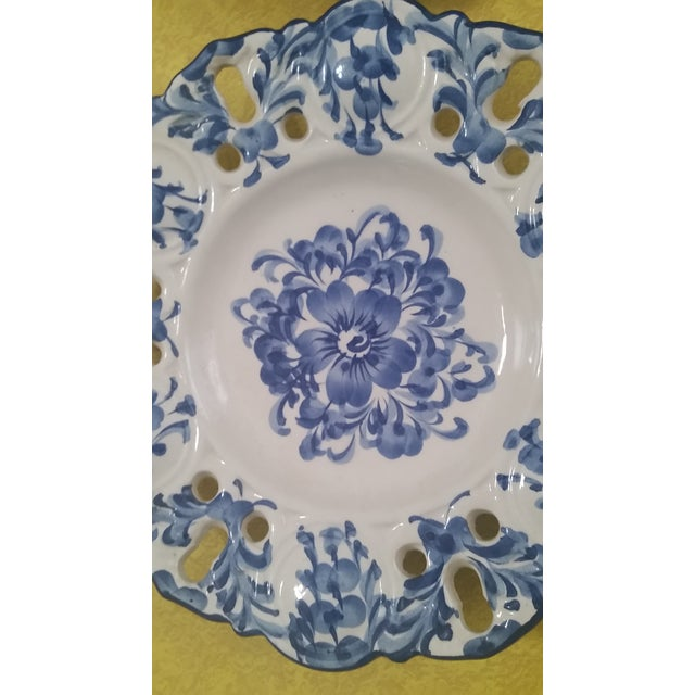 1980s Vintage Jay Willfred Portugal Hand Painted Porcelain Plates - Set of 4 For Sale - Image 5 of 10