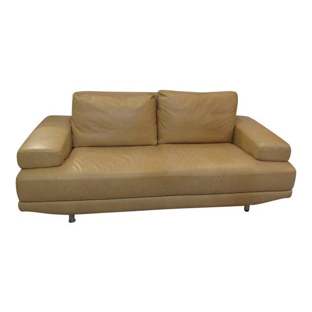 Nicoletti Italian Leather Sofa For Sale