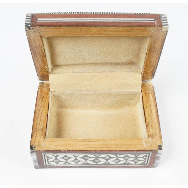 Late 20th Century Inlaid Wood Jewelry Boxes - A Pair For Sale - Image 5 of 6
