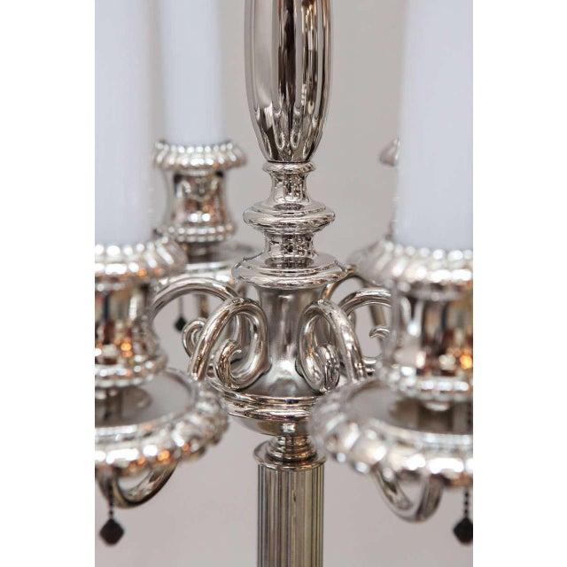 Metal Georgian Style Candelabra Floor Lamp For Sale - Image 7 of 11