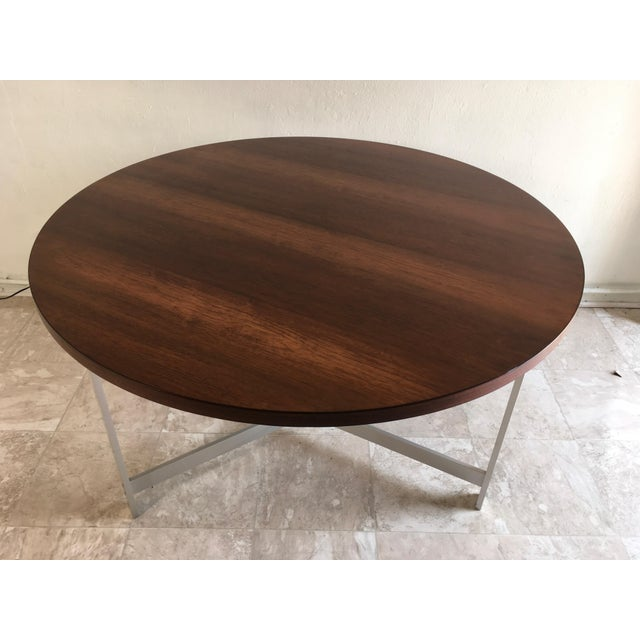 Contemporary 1960s Vintage Jørgen Kastholm & Preben Fabricius Rosewood and Aluminum Center Table For Sale - Image 3 of 12