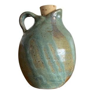 1980s Folk Art Pottery Carafe For Sale
