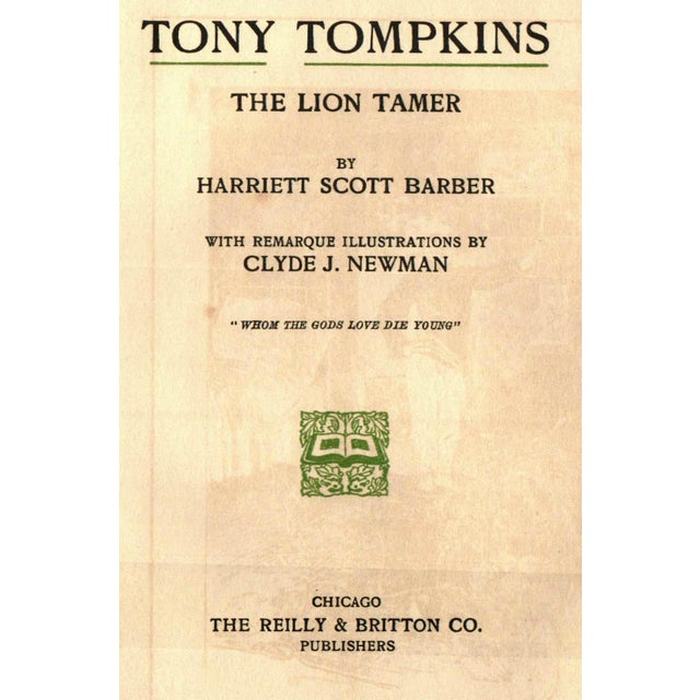 'Tony Tompkins: The Lion Tamer' Book by Harriet Scott Barber - Image 2 of 4