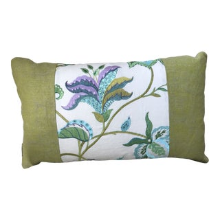 Embroidered Linen Down /Feather Pillow For Sale