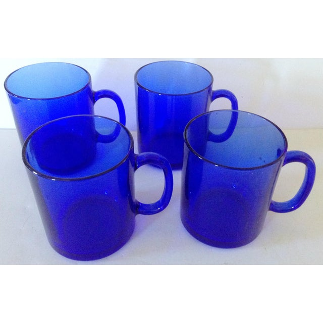 Rich blue French coffee mugs that are made of sturdy glass help to transition them inside and out. Mix well with many...