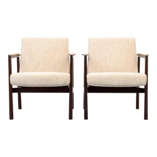 Vintage Mid Century Edward Wormley Lounge Chairs- A Pair For Sale