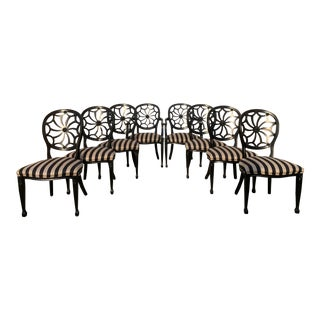 Vintage Italian Harris Marcus Spider Web Dining Chairs - Set of 8 For Sale