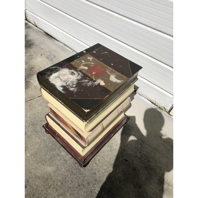 Stacked Book Accent Table For Sale - Image 9 of 10