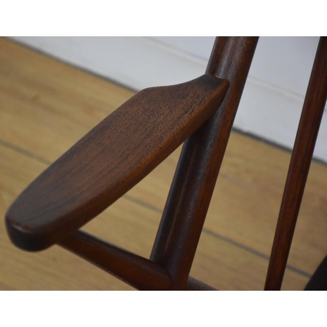 Brown Bramin Danish Rocking Chair For Sale - Image 8 of 11