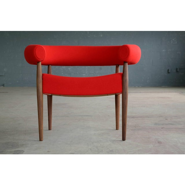 Pair of Nanna Ditzel Ring Chairs in Walnut and Wool for GETAMA For Sale - Image 9 of 10
