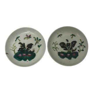 Antique Famille Rose Dishes- A Pair For Sale