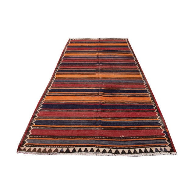"Mid-20th Century Vintage Kilim Runner Rug 5' 2"" X 10' 10''. For Sale - Image 12 of 13"