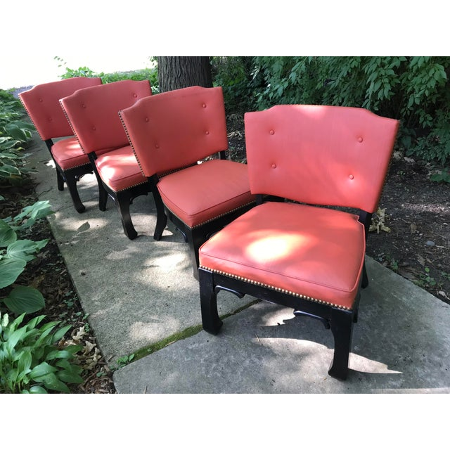 Asian Ming Style Low Slung Game Chairs- Set of 4 For Sale - Image 3 of 10
