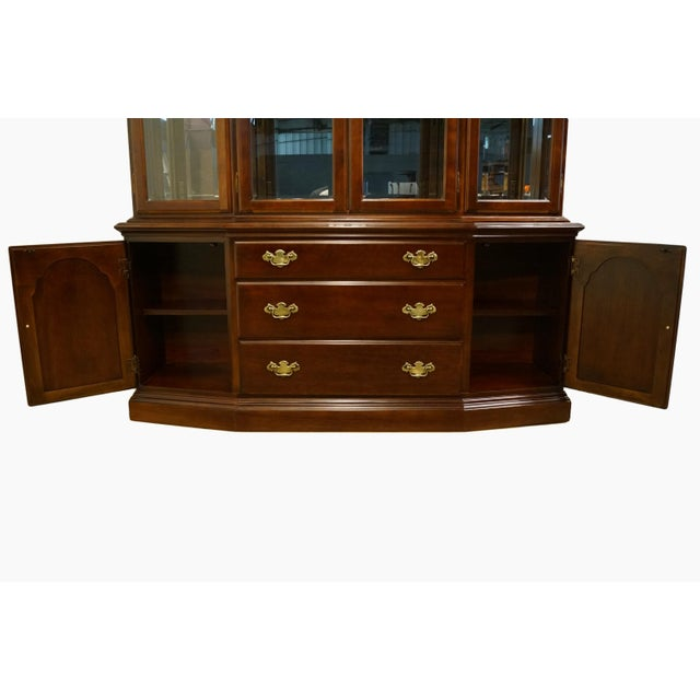 Bernhardt Furniture Traditional Solid Cherry China Cabinet For Sale In Kansas City - Image 6 of 12