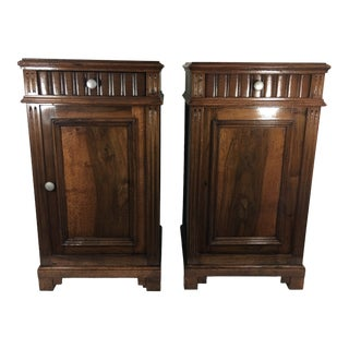 Napoleon III Bedside Tables a Pair For Sale
