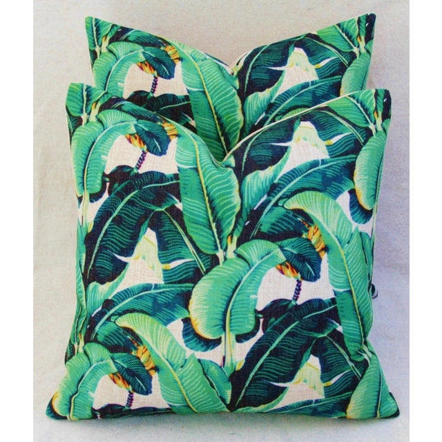 Dorothy Draper-Style Banana Leaf Pillows - A Pair - Image 2 of 10