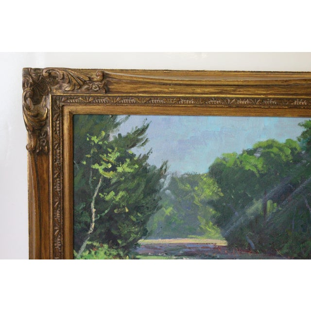 Caddell Spring Marsh Oil Painting For Sale - Image 4 of 8