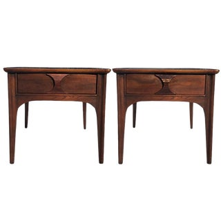 1960s Danish Modern Kent Coffey Perspecta End Tables - a Pair For Sale