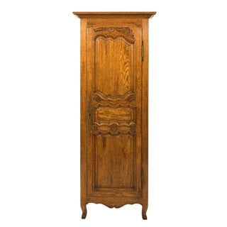 20th Century French Provincial Oak Cabinet For Sale