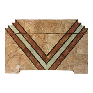 Maitland-Smith Art Deco Inspired Box in Tessellated Marble