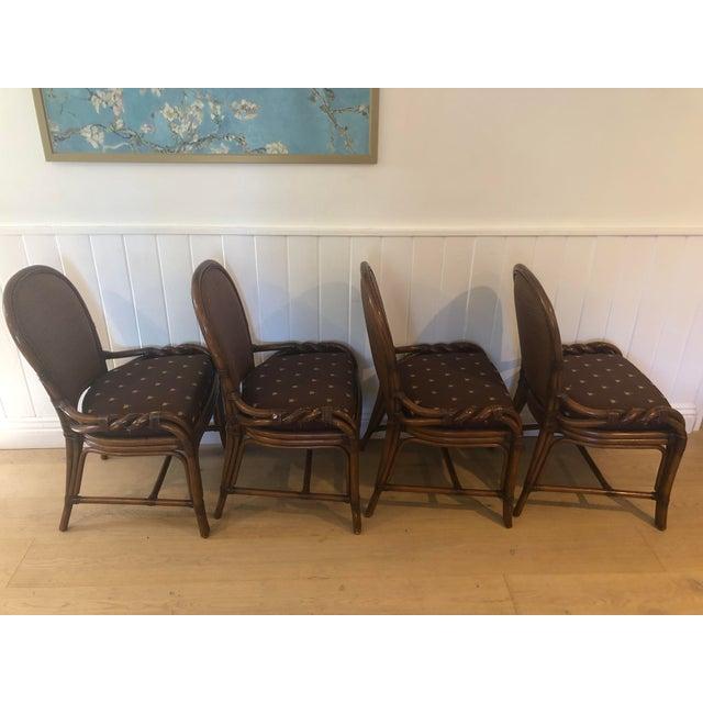 Palecek 1980s Vintage Palecek Twisted Side Chair- Set of 4 For Sale - Image 4 of 13