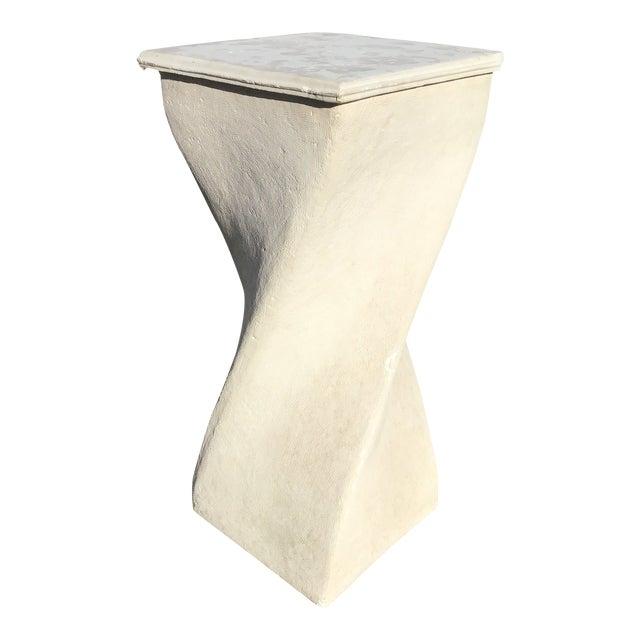 1980s Vintage Plaster Twisted Pedestal For Sale
