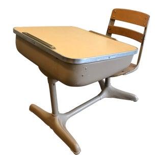 1930s American Seating Co. Steel Wood School Desk