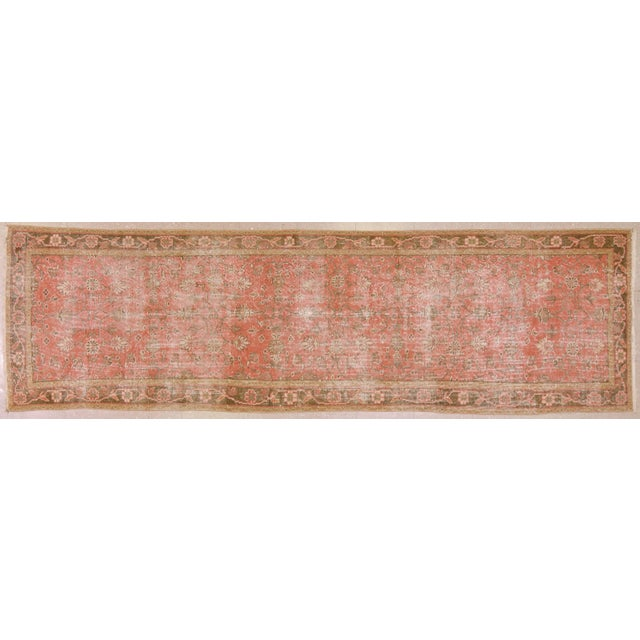 "Vintage Turkish Oushak Runner Rug - 3'3""x10'10"" For Sale In New York - Image 6 of 6"